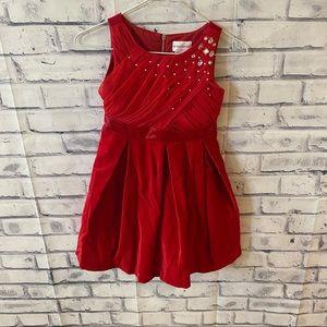 American Girl red velvet holiday dress